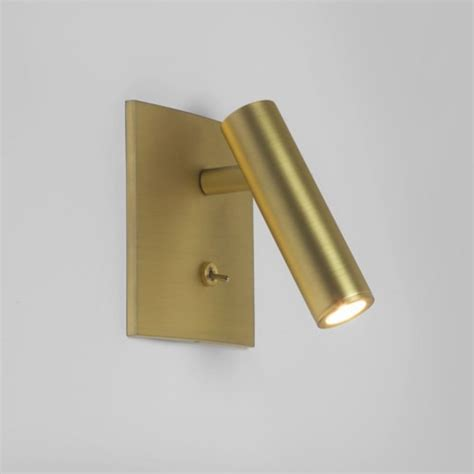 matt gold led wall mounted reading light with adjustable