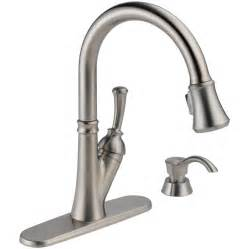kitchen faucets touch shop delta savile stainless 1 handle pull kitchen faucet at lowes