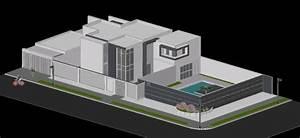 Casa Moderna 3d En Autocad