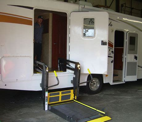 rv wheelchair lifts added to accessible recreational vehicles