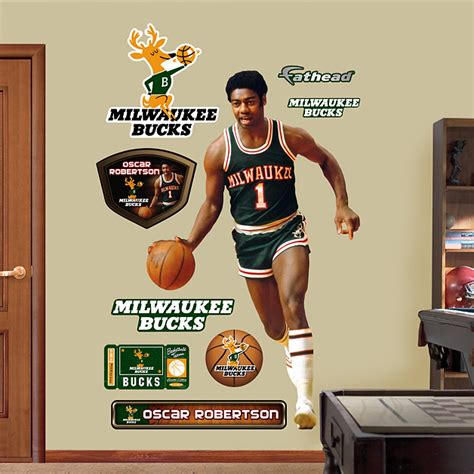 milwaukee bucks daily in position to challenge the cavaliers size oscar robertson wall decal shop fathead 174 for