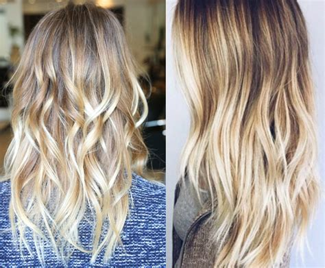What Is The Difference Between And Brown Hair by Difference Between Ombre Balayage Hair Coloring Paul