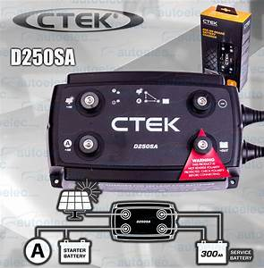 New Ctek D250sa Dual Dc To Dc Solar Battery Charger 12v