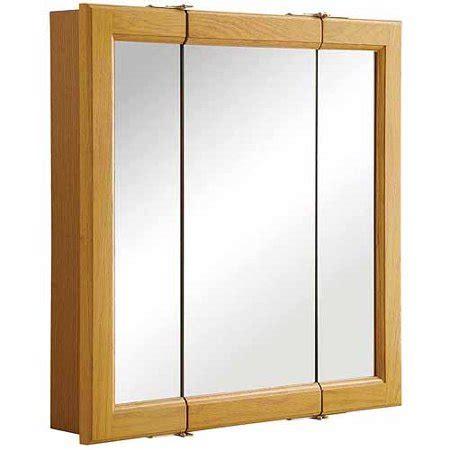Buy Medicine Cabinet by Design House 545277 Claremont Honey Oak Tri View Medicine