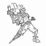 Junkrat Faucheur Genji Chacal Heros Chevalier Drawingtutorials101 Danieguto Spherelight Stemmen Malvorlagen1001 Zimmpel Artemia Fois Pinsdaddy sketch template