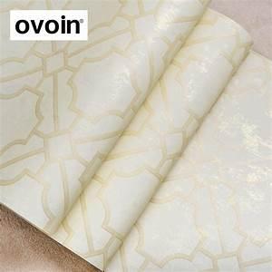 Modern Designer Metallic Lattice Geometric Wallpaper Roll ...