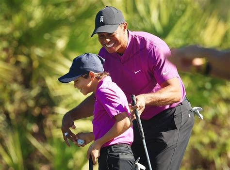 Tiger Woods' Son Charlie Shows Off Golf Skills at ...