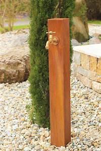 Gartenbrunnen Aus Cortenstahl : garten wasser zapfstelle cordon aus cortenstahl hersteller brunnenschmiede hier gehts zum ~ Sanjose-hotels-ca.com Haus und Dekorationen