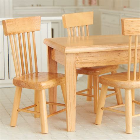 light oak kitchen table and chairs dollhouse miniature light oak kitchen table and chair set 9693