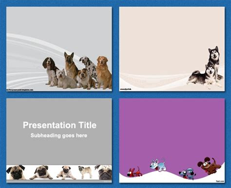 powerpoint templates dogs pets  friend