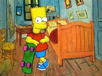 Bart Simpson Simpsons Drawing Wallpapers Paintings Van