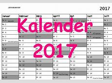 Kalender 2017 Download Freewarede