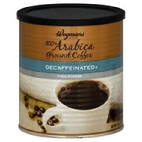 Decaffeinated coffee is regular coffee that has gone through a process to remove almost all the caffeine from the beans. Wegmans Coffee, Ground, 100% Arabica, Decaffeinated ...
