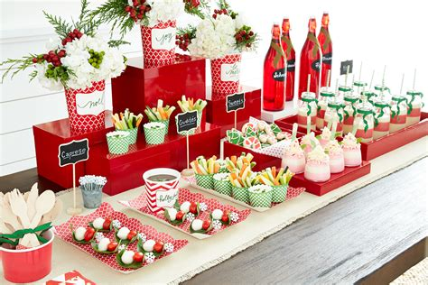 food decorations ideas for christmas a merry table of treats container stories