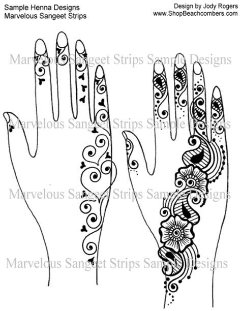 Popular Sangeet Strip Henna Design eBook Mehndi Parties