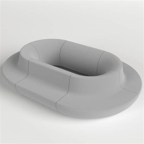 Oval Loveseat by Oval Sofa 3d Fbx