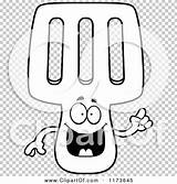 Spatula Mascot Idea Smart Outlined Coloring Clipart Cartoon Cory Thoman sketch template