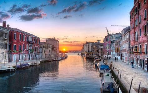 Venice Italy The Setting Sun
