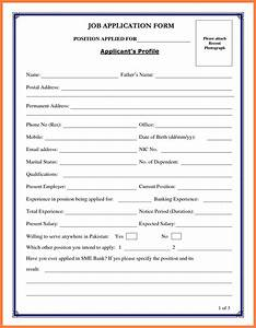 13 blank resume form for job application bussines for Blank resume form for job application