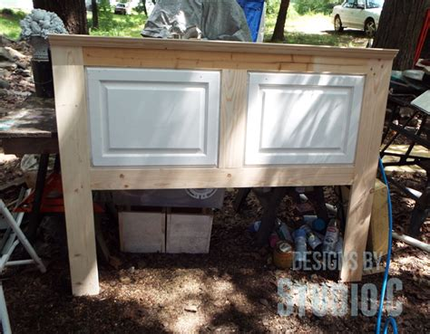 hometalk build  headboard   cabinet doors