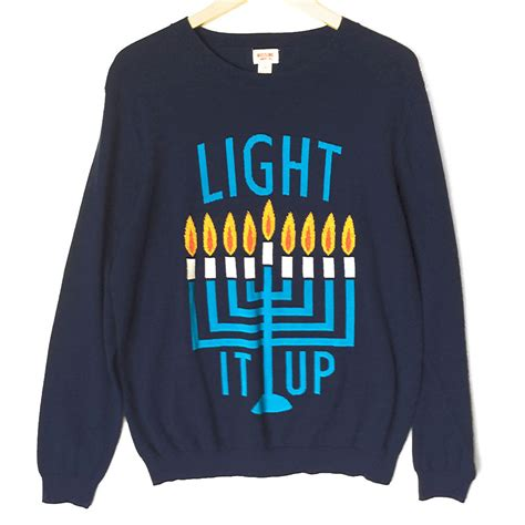 light it up s hanukkah chanukah sweater the