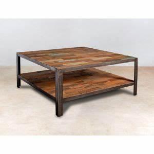 Table Salon Carrée : table basse en bois meuble salon pier import ~ Teatrodelosmanantiales.com Idées de Décoration