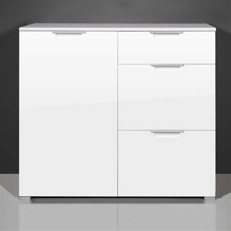 white gloss office cabinet event small sideboard in gloss white with 1 door and 3