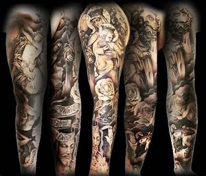 35+ Christian Tattoos On Full Sleeve