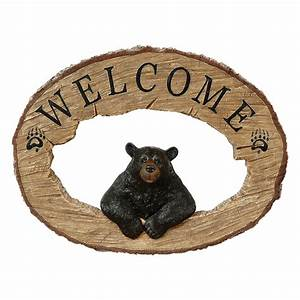 Black Bear Welcome Sign CLEARANCE