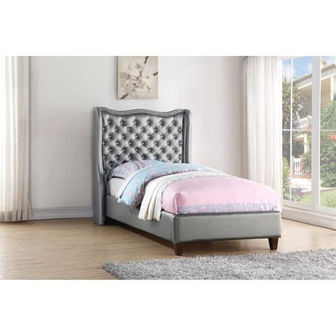 Twin Madison Bed  Silver  Dcg Stores