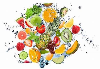 Splash Fruit Water Clipart Icon Fruits Vegetables