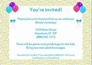 sample birthday invitation templates free premium With invitation letter for birthday party