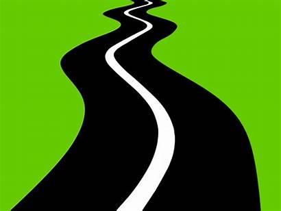 Road Ahead Winding Illustration Distance