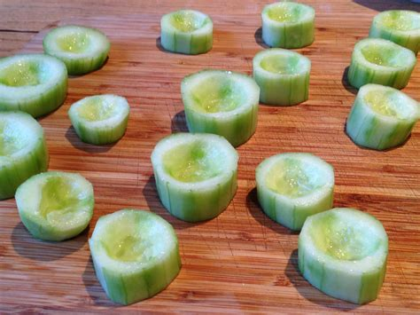 canapes fruit cucumber cups canapés yes