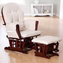 Nursery Rocker Chair by Storkcraft Bowback Glider And Ottoman Set Cherry Beige