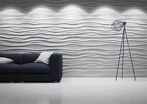 3D Wall Panels Wave Design Deco Stones