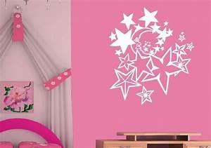 Kinderzimmer Gestalten Wand : wandtattoo kinderzimmer wandtattoos mond und sterne wandsticker ~ Markanthonyermac.com Haus und Dekorationen