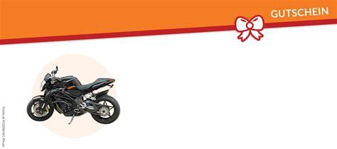 motorrad gutschein vorlagen und vordrucke auf gutscheinede