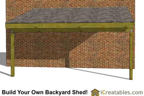 lean  shed plans  lean  open side shed plans