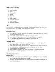handball team handball skills listed  cues passing