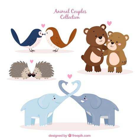 Check out our lion couple svg selection for the very best in unique or custom, handmade pieces from our shops. Hand drawn valentine's day animal couple collection Vector ...