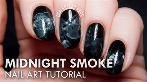 midnight smoke nail art tutorial youtube