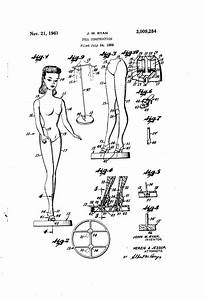 Patent Us3009284 - Doll Construction