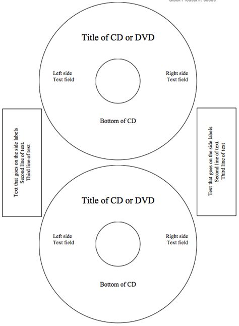 cd label template printable label templates