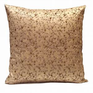 Beige light gold pillow throw pillow cover decorative for Beige and gold pillows