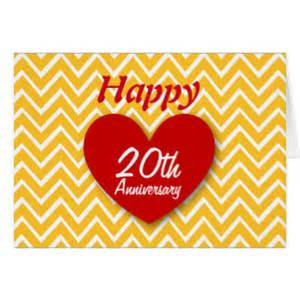 e card hochzeitstag happy 20th anniversary greeting cards zazzle