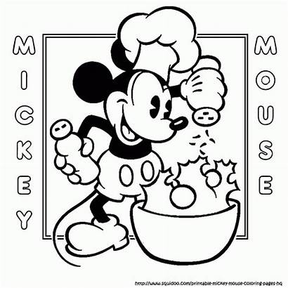Coloring Mickey Mouse Cooking Bake Clipart Minnie