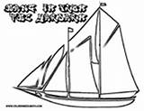 Pirate Coloring Ship Sail Vessel Sea Three Yescoloring Seas sketch template