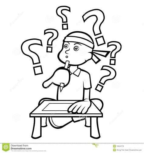 14806 student thinking clipart black and white boy thinking clipart black and white clipartxtras