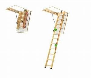 Bodentreppe LWL Lux Fakro Speichertreppe Metallhandlauf und einer Gasdruckfeder ausgestattet